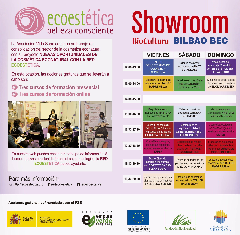 Saper en el Showroom Red Ecoestetica en Biocultura Bilbao
