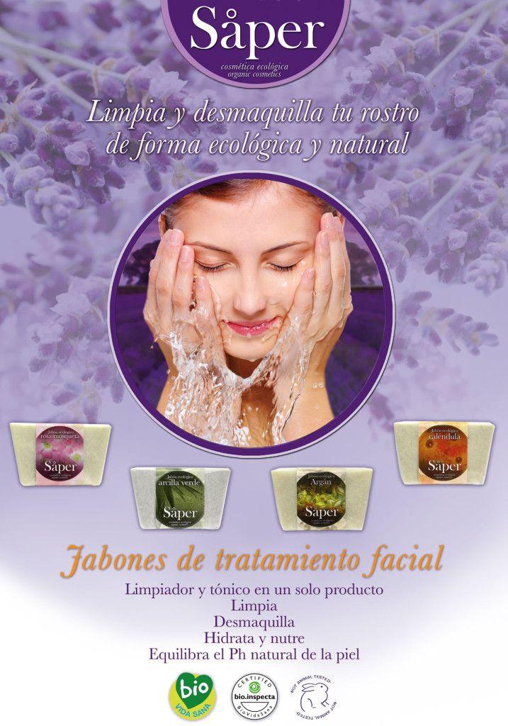 jabones de tratamiento facial, jabón ecológico para desmaquillar