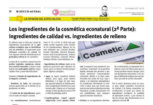 Bioeco_Sept_Ingredientes 2ª parte_Ingredientes de calidad vs ingredientes de relleno