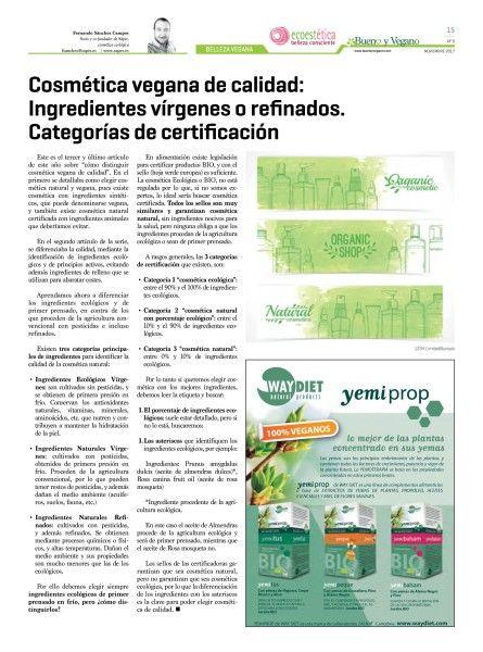 ByV_Nov_Cosmetica Vegana de calidad_Ingredientes virgenes o refinados