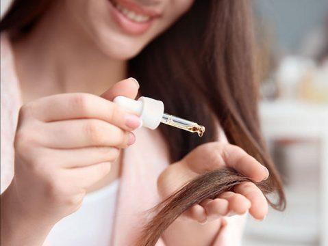 como aplicar aceite de almendras en el pelo
